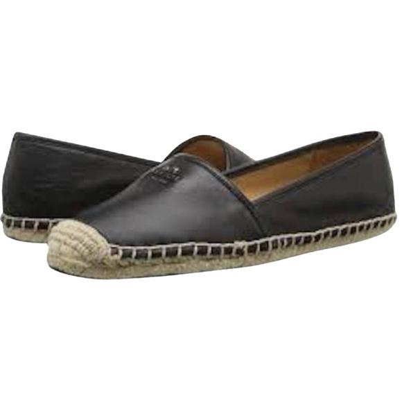 37269639ae7 Coach Shoes - Coach Rhodelle Black Leather Jute Espadrille